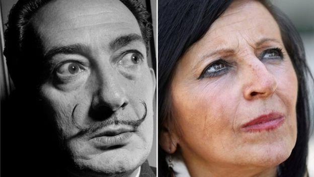 Foto comparativa: Salvador Dalí y Maria Pilar Abel Martínez