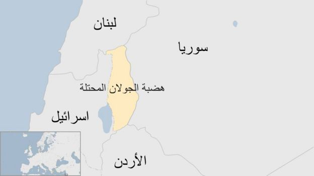 "إسرائيل تشن هجمات داخل سوريا ردا على ""قصف إيراني"" _101250684_golan"