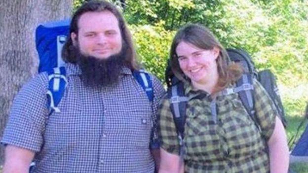 La pareja en una fotografía antes de ser capturados.