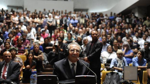 Efraín Ríos Montt durante su juicio por genocidio.