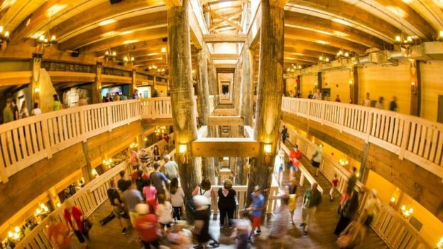 Visitors tour the newly-opened Ark Encounter in Kentucky.