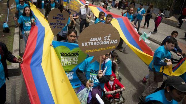 Marcha ambiental en Colombia