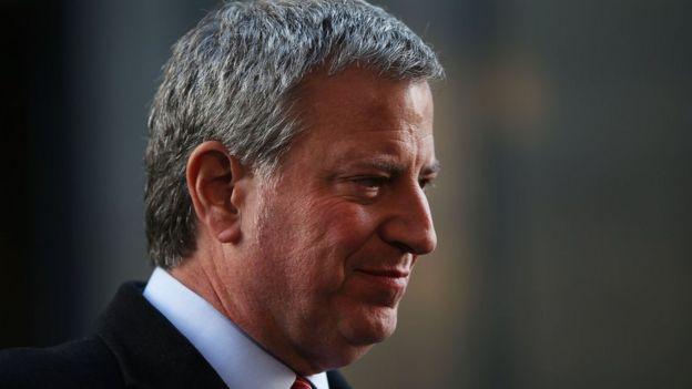 Bill de Blasio, mayor of New York.