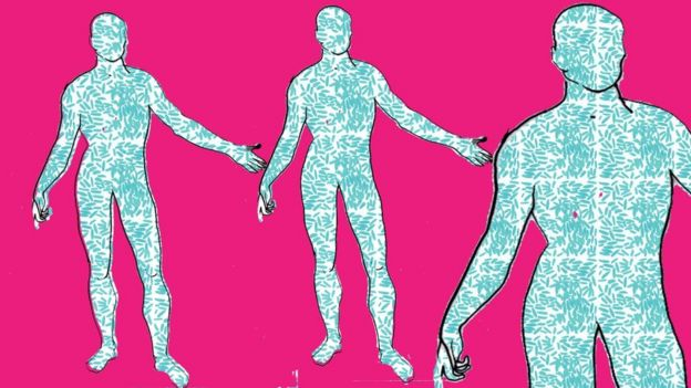 شكل توضيحي لبكتريا جسم الإنسان