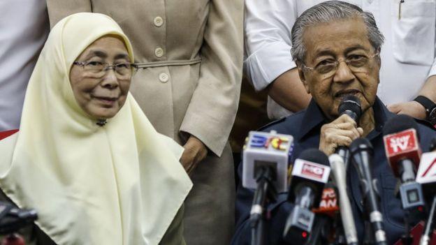 Wan Azizah Wan Ismail dan Mahathir Mohamad