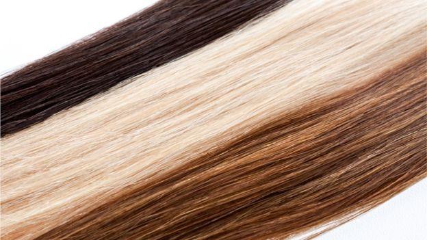 siyah sarı ve kahverengi saç