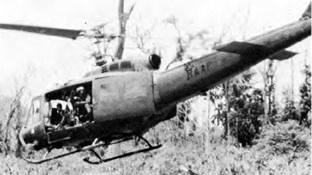 Helicóptero Huey de la Guerra de Vietnam (Foto: Fuerza Aérea de EE.UU.)