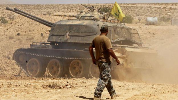 Fuerzas de Hezbolá.