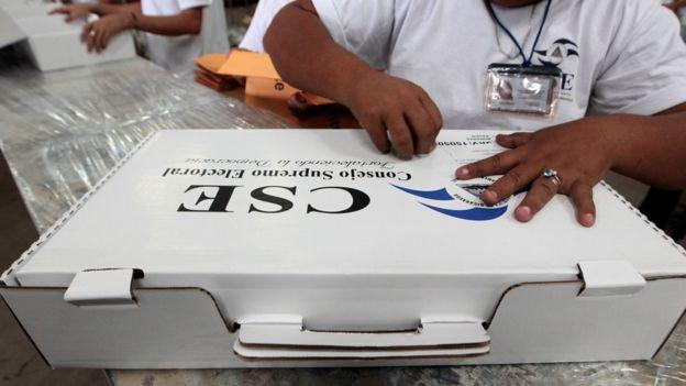Maleta electoral en Nicaragua