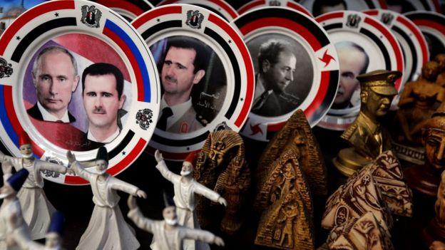 Esad ve Putin resimleri