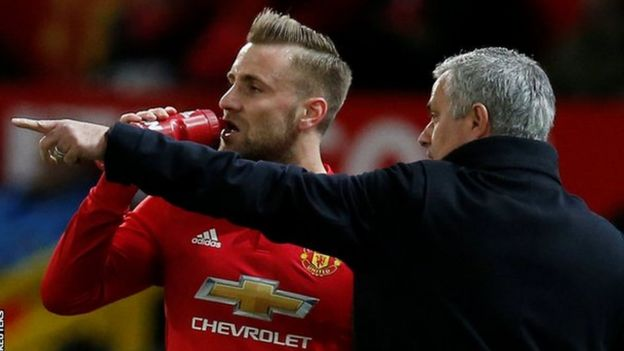 Luke Shaw na Jose Mourinho