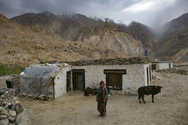 Moradora do vale Ladakh