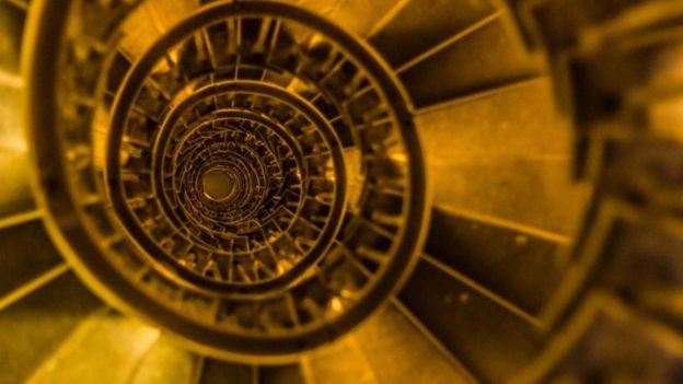 La escalera de caracol en The Monument