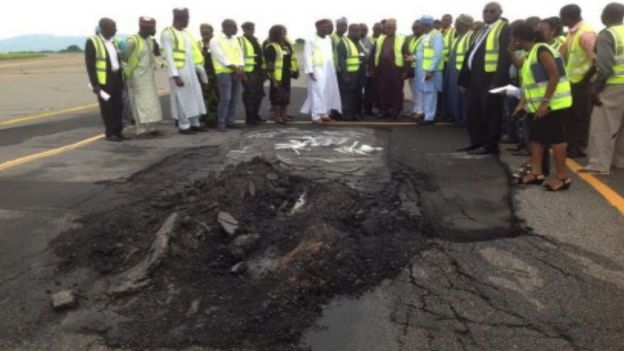 Officials inspect Abuja runway
