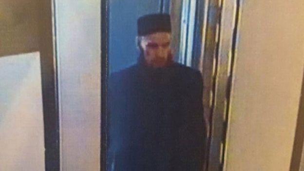 Imagen de un presunto sospechoso del ataque