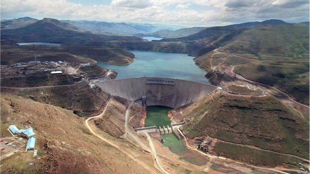 Lesotho country profile bbc news lesothos katse dam part of the lesotho highlands water project sciox Images