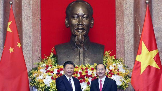 习近平和越南总统陈大光