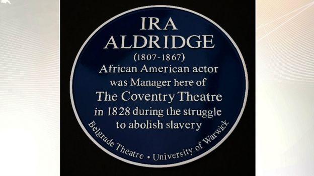 Blue Plaque for Ira Aldridge