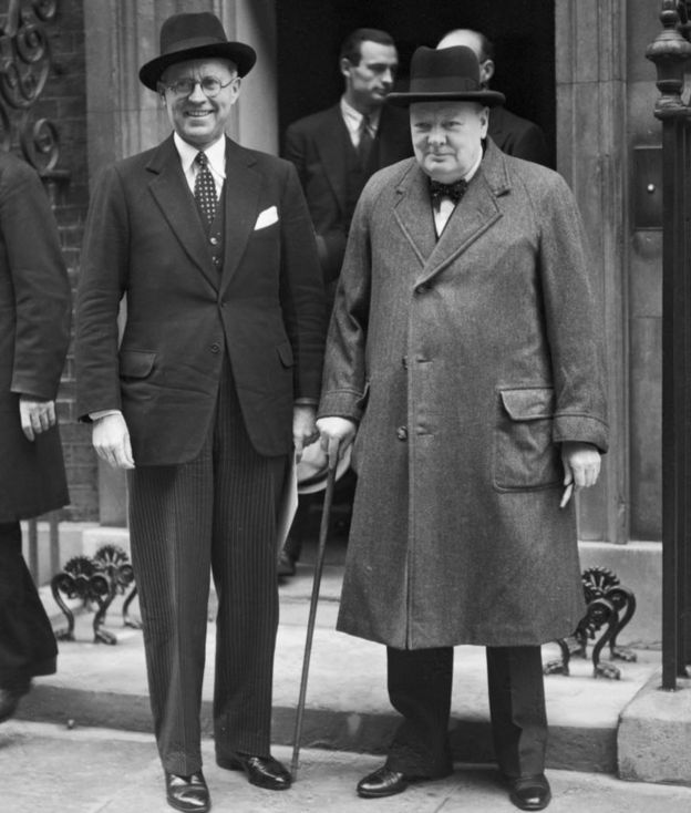His grandfather with Churchill