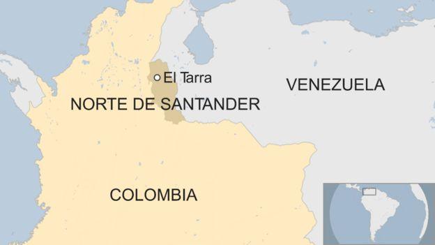 Mapa de Colombia y Norte de Santander