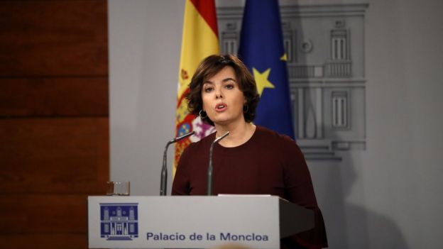 Vicepresidenta del gobierno español, Soraya Sáenz de Santamaría