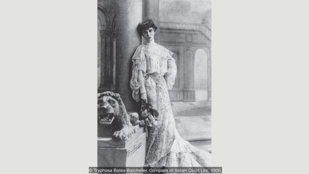 Casati seis años después de casarse con el marqués Camilo Casati Stampa.