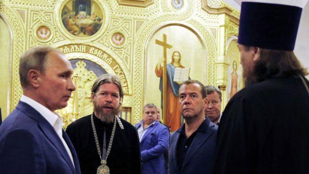 Vladimir Putin e Tikhon Shevkunov