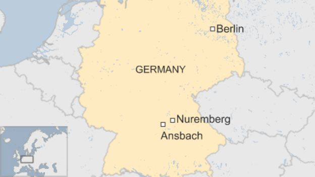 Ansbach Explosion Syrian Asylum Seeker Blows Himself Up In: Ansbach Germany Map At Infoasik.co