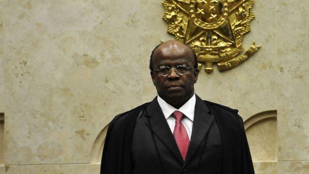 O ex-ministro do STF Joaquim Barbosa