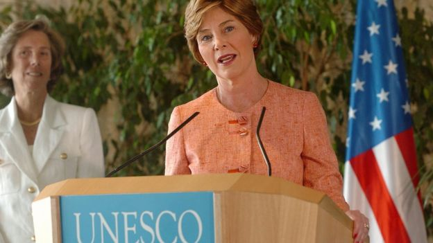 Laura Bush na Unesco