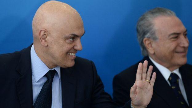 Alexandre de Moraes com o presidente Michel Temer
