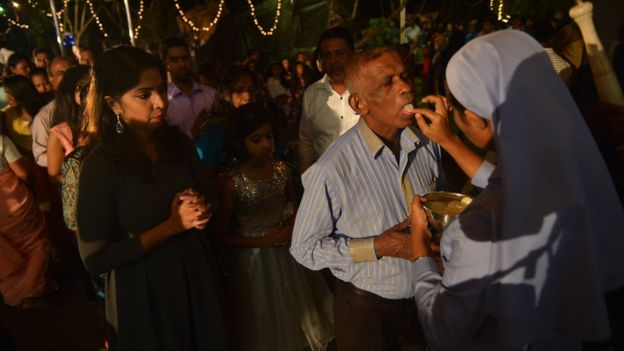 Праздничная месса в Коломбо