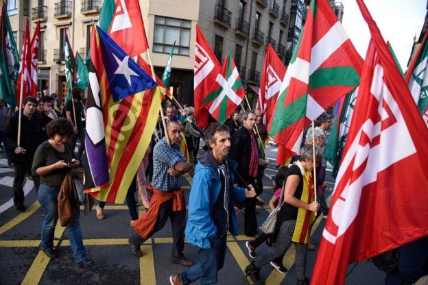 Banderas del País Vasco.
