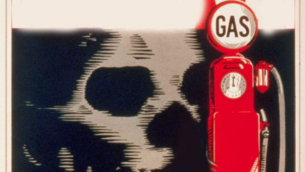 Gasolinera y calavera