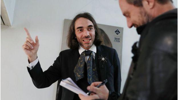 Cedric Villani em Orsay em 12 de maio de 2017