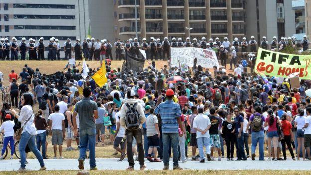 Protesto de 2013 em Brasília