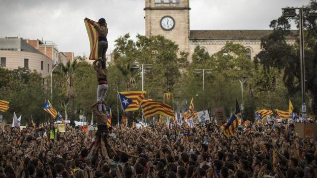 Barcelona'da bağımsızlık yanlısı eylemler düzenleniyor