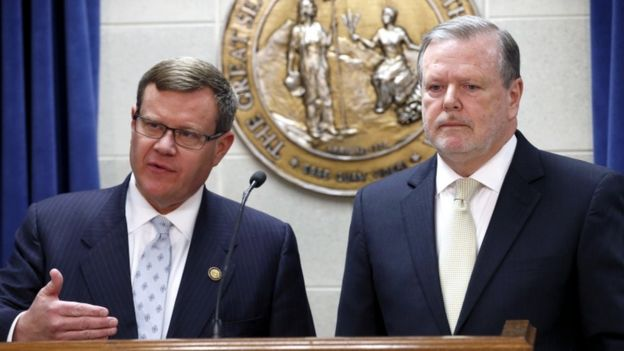 State Congress Republicans Moore (L) and Berger said the deal was a compromise
