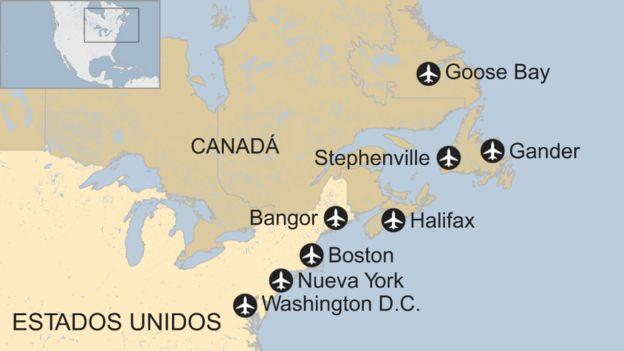 Aeropuertos del noreste de Norteamérica
