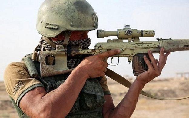 Deyrizor'daki bir Rus askeri