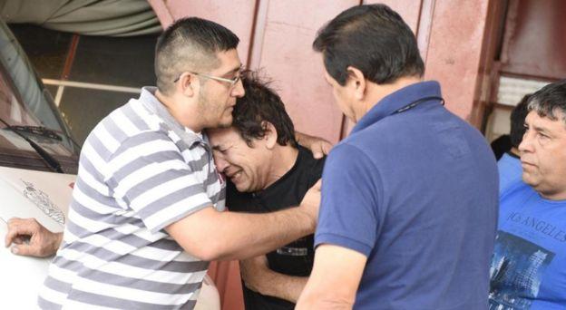 Raúl Balbo al saber la noticia sobre su hijo Emanuel