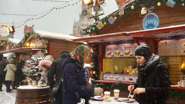 Moskow di tengah salju