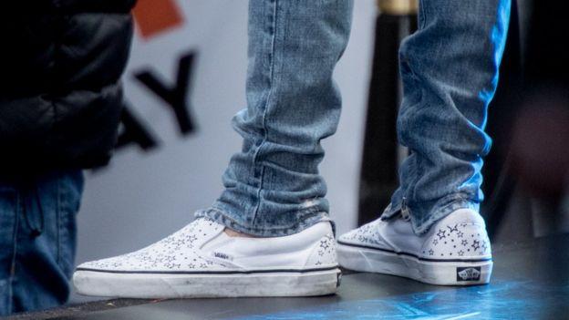Justin Bieber's feet