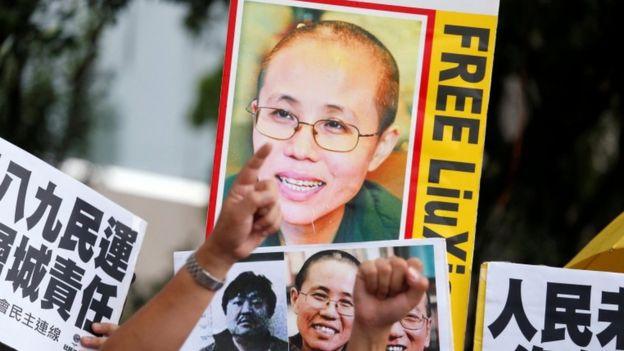 Protestas en reclamo de la liberación de Liu Xia.