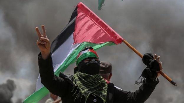 Manifestante palestino