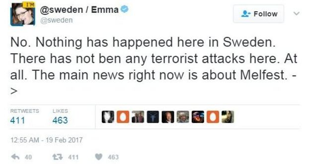@Sweden tweet reads: