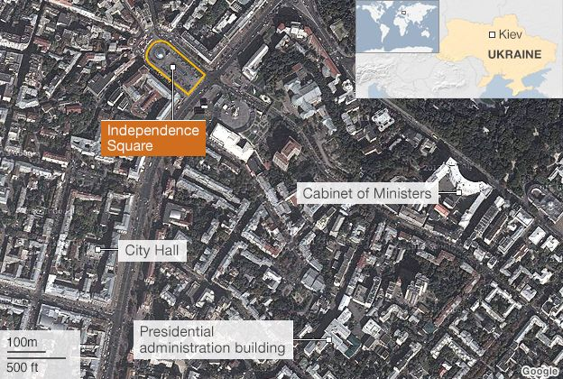 Ukraine Crisis In Maps BBC News - Us news today president protesters map