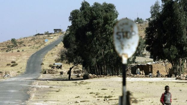 The border area between Ethiopia and the Temporary Security Zone and the Eritrean border in the northern town of Zala Anbesa in the Tigray region of Ethiopia, 19 November 2005