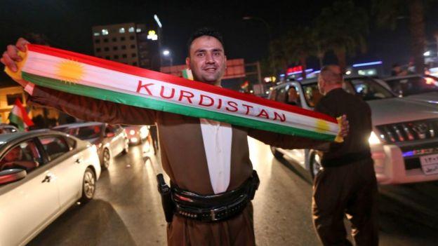 Сторонник независимости Курдистана