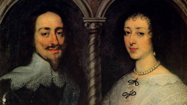 Карл I и Генриетта-Мария, портрет кисти Ваг-Дейка